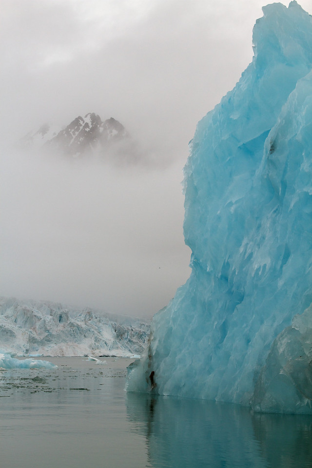 translucent iceberg at monaco glacier